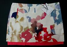 NEW DVF DIANE VON FURSTENBERG RAINBOW GARDEN ELLEY MINI SKIRT W 2 POCKET SIZE 4