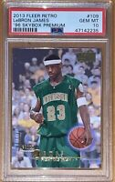 🔥Pop 1 of 4!💎2013 LeBron James FLEER RETRO '96 SKYBOX PREMIUM #109 PSA 10 BGS