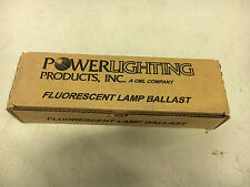 POWER LIGHTING PRODUCTS VAL-MISER 8G1074W NIB (1)F40T12 LAMP SEE PICS #A46