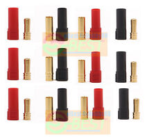 6Sets Best Amass XT150 Gold Banana Bullet Plug 6mm Connector Male Female Adapter