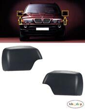 BMW X5 E53 2000 - 2006 2X NEW WING MIRROR COVER CAPS PRIMED LEFT + RIGHT