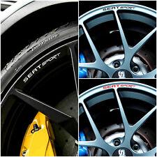 10 x Seat Sport jantes alliage decals autocollants Ibiza Leon ST Cupra 16 17 18 roues