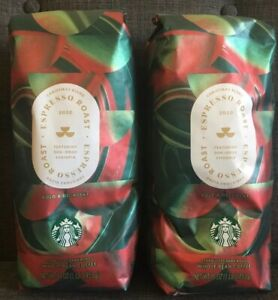 2 Starbucks Christmas Blend Espresso Roast Whole Bean Coffee - 2020 New Release!