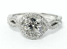Curtis J Lewis Pre Owned Verragio Diamond Halo Engagement Ring