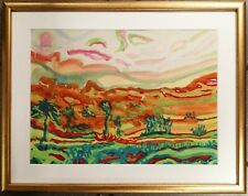 Fab 1960s English Abstract/Surreal Landscape painting Peter Slater