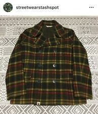 A Bathing Ape Plaid Peacoat Size Medium