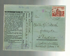 1940 Germany Dachau Concentration Camp Cover Commemorative Stamp Karl Kasak
