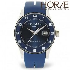 Orologio da polso Uomo Locman Island 060000bl-blw2sib acciaio Titanio Blu gomma