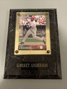 Garret Anderson #16 Los Angeles Angles of Anaheim Card Plaque Sealed Protected