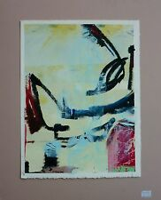 FRANCES TEMCHIN Original Abstract Mixed Media Oil Painting