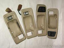 90-93 Acura Integra OEM interior door handle covers lock switches tan 4 door