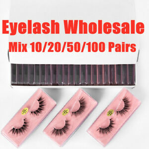 Wholesale Single 3D Mink Eyelashes Bulk Mix False EyelashES Natural Extension