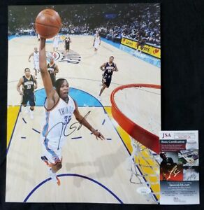 Kevin Durant Nets Thunder Warriors JSA signed 11x14 photo autograph not PSA OKC