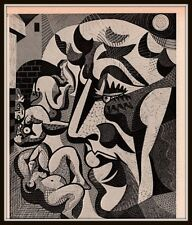 1967 MAGAZINE PRINT CANADIAN ART ALFRED PELLAN SUR LA PLAGE
