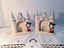 Vintage Mickey Mouse Disney Japan 1980's Ceramic Castle Picture Frames Set of 2