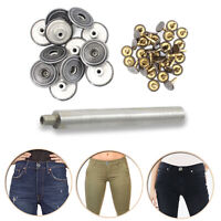 22mm Hand Fixing Tool with Black Jeans Replacement Brass Buttons for Arts Crafts