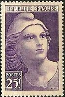 "FRANCE TIMBRE STAMP YVERT N° 731 "" MARIANNE DE GANDON 25F "" NEUF XX LUXE"
