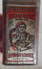 Ancienne Boîte Moka des Nations Chicorée Extra Alphonse Leroux Orchies Nord