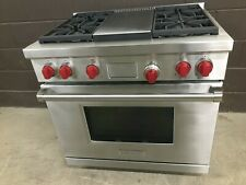 "Wolf DF364G - 36"" PRO Dual Fuel Range Stove 4 Burners + Griddle"