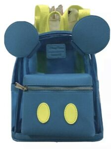 New Disney Parks Mickey Mouse Clear Blue Neon Strap Backpack Loungefly Sold Out