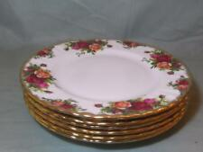6 Royal Albert Old Country Roses Salad or Starter Plates 8¼""