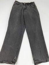 SOUTH POLE MENS DARK GRAY DENIM JEANS MENS TAG SIZE 32 REAL SIZE 31 STRAIGHT LEG