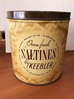 Vintage Oven Fresh Saltine Tin Can by Keebler