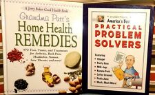 Jerry Baker 2Book Set Home Health Remedies Practical Problem Solvers