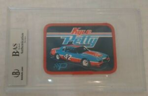Autographed Signed Beckett BAS Slabbed 1981 STP Patch NASCAR Rare KYLE PETTY RC