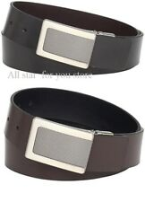 Kenneth Cole Men's Belt Leather Reversible Plaque Buckle Belt Size 40