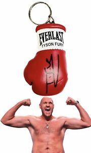 Autographed Mini Boxing Glove keyring Tyson Fury