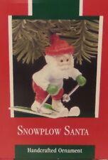 Hallmark 1989 Snow Plow Santa Ornament