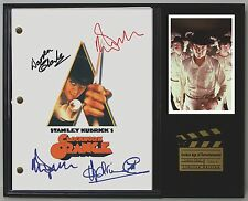 "ClockWork Orange Limited Edition Reproduction Signed Movie Script Display ""C3"""