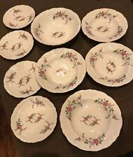 9 piece Wawel China ROSE Pattern Made in Poland Fine China-Large Salad Bowl