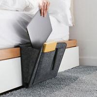 FJ- Bedside Hanging Storage Felt Bag Pocket Bed Organizer Holder Container Box R