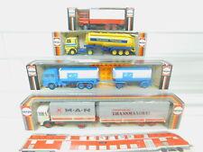 BO925-0,5 #4x Herpa 1:87 Camion : 813371 Magirus + 822500 Scania + 820321+805290