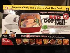 Red Copper Chef Square Pan 5 Piece Set Cookware Pans As seen on TV FREE SHIPPING