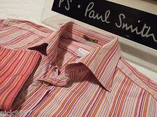 "PAUL SMITH Mens Shirt 🌍  Size 16"" (CHEST 42"") 🌎 RRP £95+ 🌏 VIBRANT STRIPES"