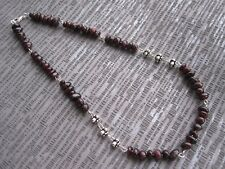 Silver Plated Red Garnet Necklace