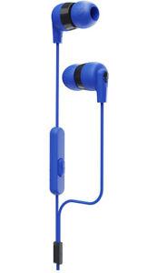 NEW Skullcandy Ink'D+ Wired In-Ear Headphones + Microphone & Remote -Cobalt Blue