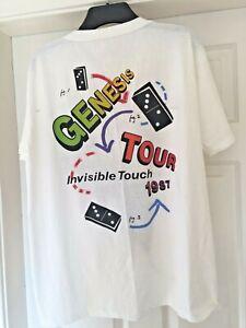 VINTAGE GENESIS INVISIBLE TOUCH 1987 TOUR T-SHIRT SIZE XL 50/50 COTTON/POLY RARE