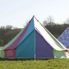 Boutique Camping 5m Rainbow Bell Tent With Zipped in Ground Sheet