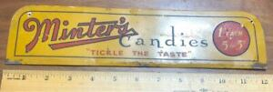 MINTERS COUNTRY STORE COUNTER TOP SIGN CANDY DISPLAY