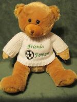 """2007 Animal Alley Teddy Bear Friends Forever 14"""" Plush Geoffrey Toys R Us"""