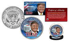 DONALD TRUMP 45th PRESIDENT Official 2016 JFK Half Dollar U.S. Coin WHITE HOUSE