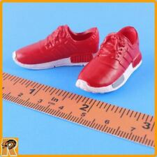 Running Sneakers - Red Shoes for Feet - 1/6 Scale Zy Toys Action Figures