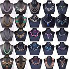 Woman Rhinestone Wedding Women Alloy Crystal Jewelry Set Chain Necklace Earrings