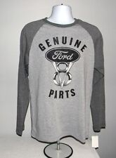 NEW MENS SMALL GENUINE FORD V8 PARTS T SHIRT 3/4 SLEEVE GRAY COTTON POLYESTER