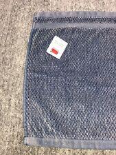 John Lewis Cotton Face Cloth 28 X 28cm Stonewash Blue Navy