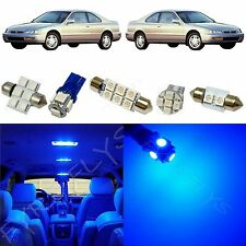 8x Blue LED lights interior package kit for 1993-1997 Honda Accord HA4B